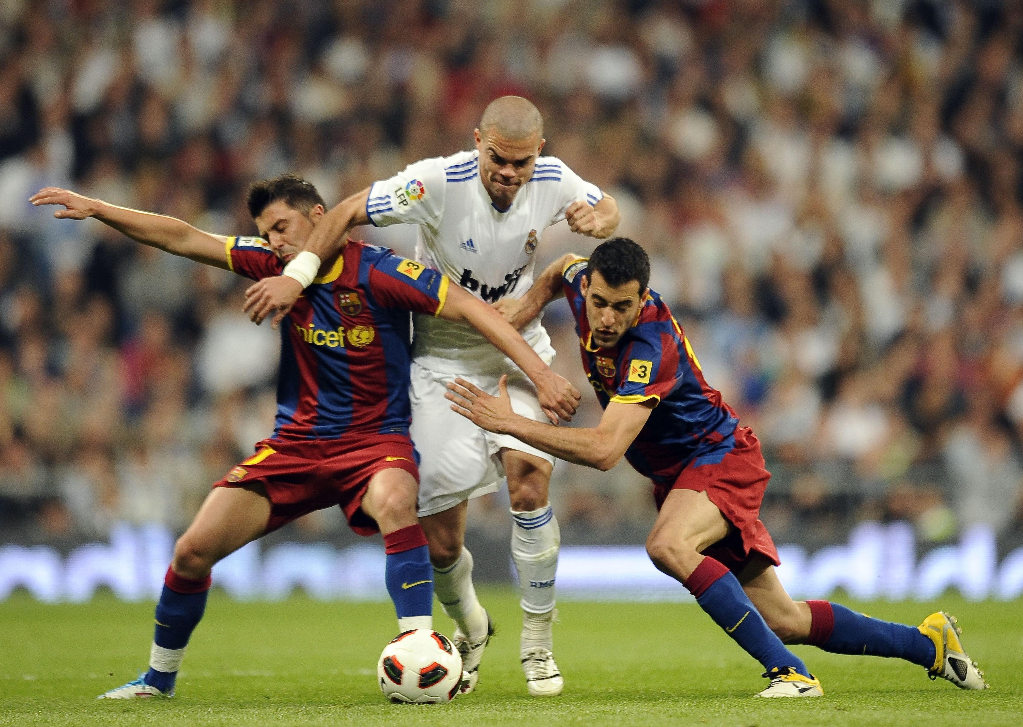 Реал - Барселона, Давид Вилья, Пепе и Серхио Бусткетс