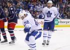 """""""Maple Leafs"""" ar debitantu palīdzību svarīga uzvara Kolumbusā, Makdeivida vārti neglābj """"Oilers"""""""
