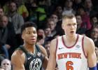 Video: Porziņģis tiek NBA dienas topā, bet par augstu cenu