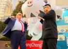 """Video: Olimpiskajās spēlēs Dienvidkorejā uzdarbojas """"Tramps"""" un """"Čenuns"""""""