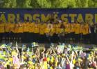 Video: Pasaules čempioni līksmo Stokholmā
