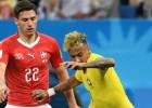Brazīlija iesit skaistus vārtus, bet pie uzvaras pār Šveici netiek