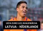 Sportacentrs.com TV: Latvija pret pasaules futbola talantu kalvi Nīderlandi - tur būs, ko redzēt!