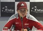 """Video: Ostapenko: """"Lielais skaits nepiespiesto kļūdu neļāva pacīnīties par uzvaru"""""""