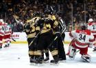 """""""Bruins"""" neatstāj cerības """"viesuļvētrām"""", austrumu konferences finālā panākot 2-0"""