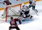 Video: Rīdzinieks Makmilans iekļūst KHL pirmās nedēļas vārtu topā