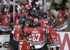 """""""Flyers"""" un """"Blackhawks"""" uzvar papildlaikā un panāk septīto spēli"""