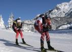 Biatlonistiem starts sprintā sniegotajā Rūpoldingā