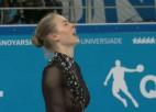 Video: Kučvaļska pārsteidz ar augstvērtīgu sniegumu pasaules universiādē