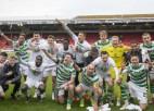 """Glāzgovas """"Celtic"""" astoto gadu pēc kārtas tiek kronēta par Skotijas čempioni futbolā"""
