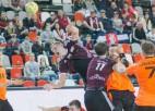 Finālturnīrā iekļuvusī Latvija spēles beigās nespēj izrādīt pretestību Nīderlandei