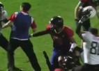 Video: Gruzijas un Kazahstānas amerikāņu futbolisti sarīko masveida kautiņu