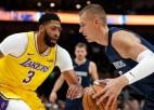 """Video: Porziņģis sakrāj 16+9 cīņā pret """"Lakers"""""""