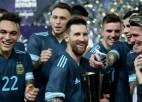 Mesi gūst Argentīnas uzvaras vārtus pārbaudes mačā pret Brazīliju