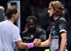 """Nadals """"maratona mačā"""" uzvar Cicipasu un vēlreiz gaida Medvedeva palīdzību"""