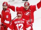 """Daugaviņam rezultatīva piespēle, """"Spartak"""" pārtrauc """"Barys"""" uzvaru sēriju"""