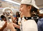 """WNBA finālu MVP Mēsemana: """"Nesaprotu spēlētājus, kuri zālēs urbjas telefonos"""""""