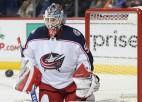 """Merzļikins šonakt būs rezervē """"Blue Jackets"""" spēlē pret NHL līdervienību"""