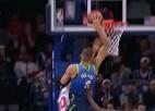 Video: Porziņģis dodas caurgājienā un danko, izpelnoties otro vietu NBA topā