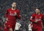"""Van Deikam uzvaras vārti pār """"United"""", """"Liverpool"""" pārsvars turpina augt"""