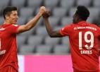 """""""Bayern"""" strauji iesit piecus un grauj, Levandovskim divi vārti"""