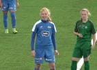 Video: Osiņinas tālšāvienu <i>dublis</i> un Zaičikovas sologājiens nodrošina Rīgas Futbola skolas dāmām pārliecinošu uzvaru