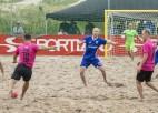 Nedēļas nogalē Latvijas-Igaunijas pludmales futbola līgas spēles Majoros un <i>Sportacentrs.com</i> TV
