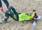 Motosportists Kozlovskis pēc kritiena ar lūzumiem nokļuvis slimnīcā