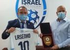 Ļašenko pirmajā ārvalstu vizītē ticies ar Izraēlas Futbola asociācijas prezidentu