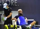 """Dienu pirms """"US Open"""" sākuma pozitīvas koronavīrusa analīzes Pēram"""