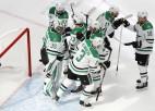 """""""Stars"""" izvirzās vadībā, fināla pirmos vārtus gūst NHL vēl neiemetis aizsargs"""