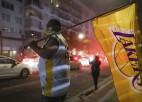 """""""Lakers"""" čempiones titula svinību laikā Losandželosā arestēti 76 cilvēki"""