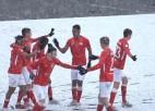 """Video: """"Spartaks"""" ielaiž vārtus jau pirmajā minūtē, taču spēj izcīnīt uzvaru pret """"Daugavpili"""""""