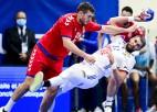 Serbi EČ kvalifikācijā handbolā atkal pārsteidzoši atņem punktus Francijai