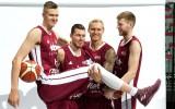 Foto: Bertāni, Porziņģis un citi figurē Latvijas izlases mediju dienā
