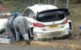 Foto: Ožjē Montekarlo WRC testos avarē ar jauno ''Ford Fiesta WRC''