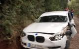 Foto: Deviņkārtējais WRC čempions Lēbs piedzīvo avāriju, iepazīstoties ar trasi