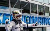 Foto: Vācijas F1 posmā triumfē Hamiltons