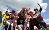 Foto: Latvijas izlases fani hokeja čempionātā