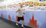 Foto: Izlases pirmais treniņš Maskavā: Indrašis izvēlas Skvorcovu