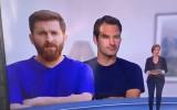 Video: Televīzijas sižetā par Mesi izmanto viņa līdzinieka foto