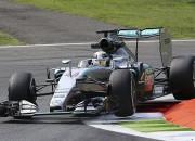 """Hamiltons """"Grand Prix"""" posmu Itālijā sāk ar ātrāko laiku pirmajā treniņā"""