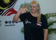 Žannai Čingulei bronza pasaules čempionātā armvrestlingā