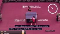 Galda tenisa izspēle ilgst vairāk nekā 10 minūtes