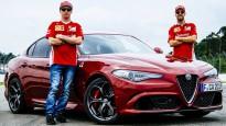 "Raikonens un Fetels izmēģina jauno ""Alfa Romeo"""
