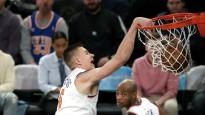 Porziņģis ar danku tiek NBA dienas topā