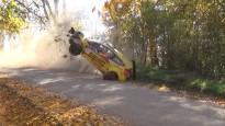 Norvēģu sportistam debija ''Rally Liepāja'' beidzas ar iespaidīgu avāriju