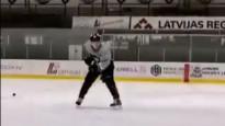 Jauns Latvijas hokejists rāda ripas pārvaldīšanas spējas