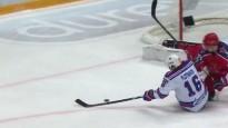KHL pusfinālu vārtu topā uzvar Plotņikovs sēdus-guļus