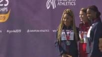 Zelta medaļnieces Bukšas apbalvošana U23 Eiropas čempionātā